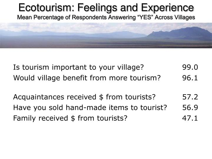 Ecotourism: Feelings and Experience