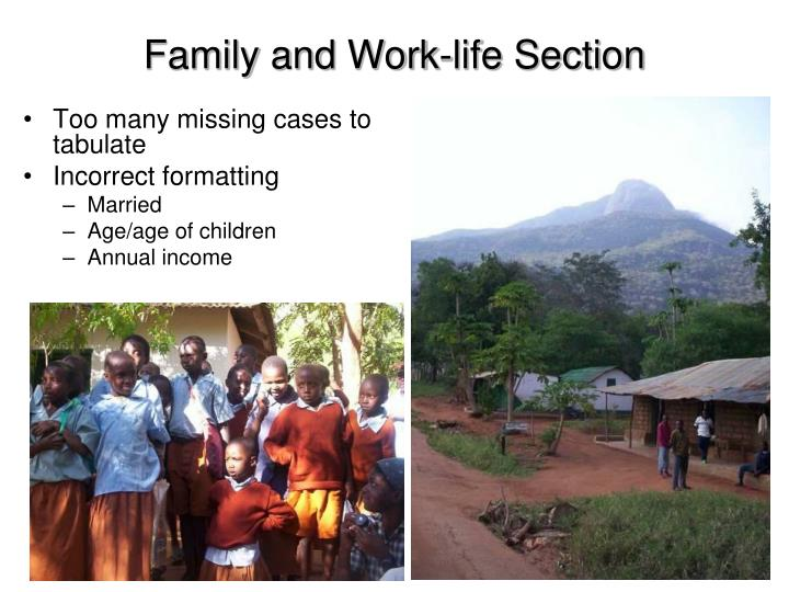 Family and Work-life Section