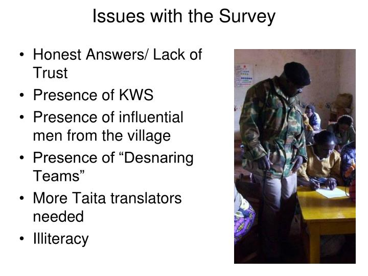 Issues with the Survey
