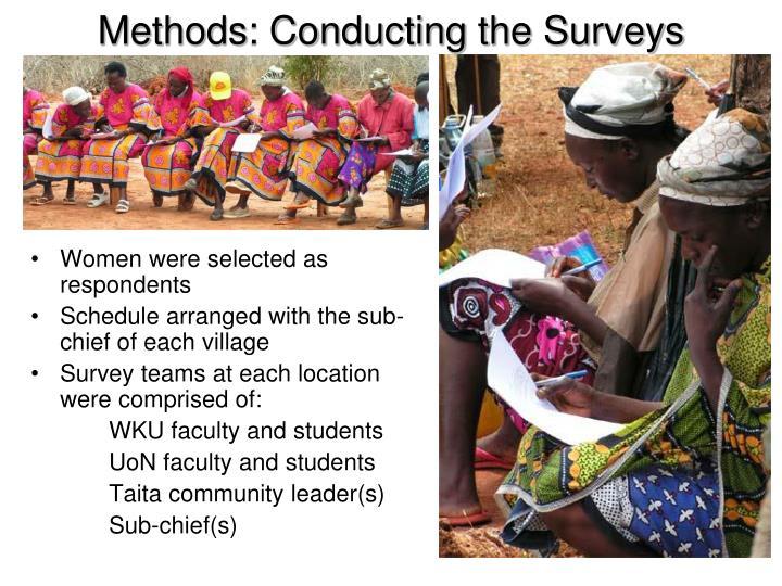 Methods: Conducting the Surveys