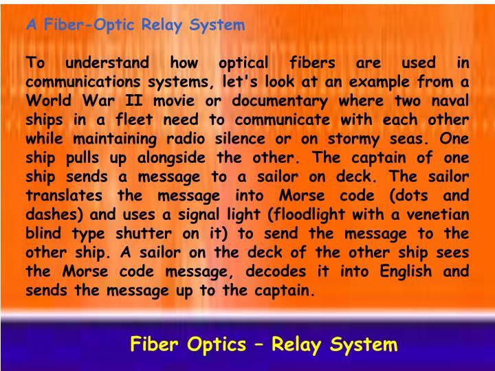 A Fiber-Optic Relay System