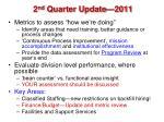 2 nd quarter update 2011