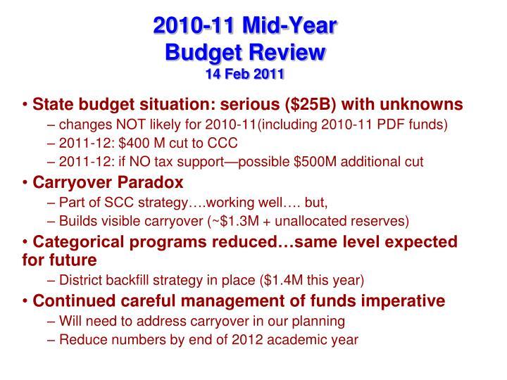 2010-11 Mid-Year