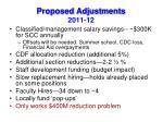 proposed adjustments 2011 12