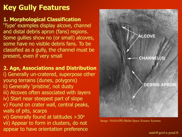 Key Gully Features