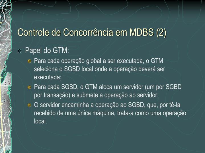Controle de Concorrência em MDBS (2)