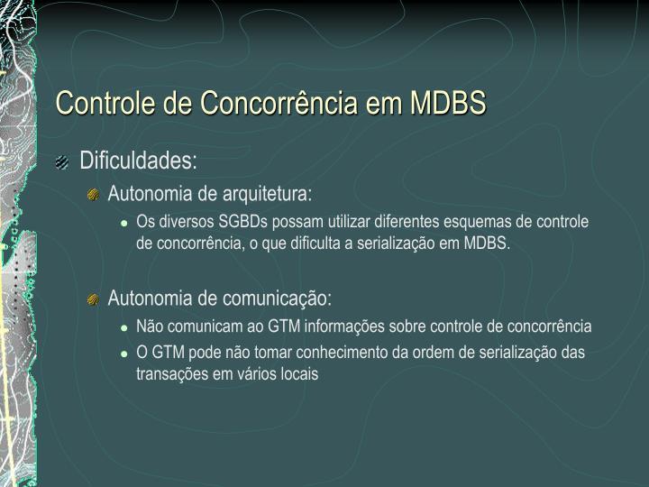 Controle de Concorrência em MDBS