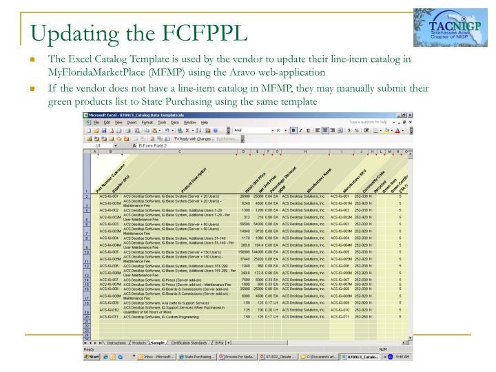 Updating the FCFPPL