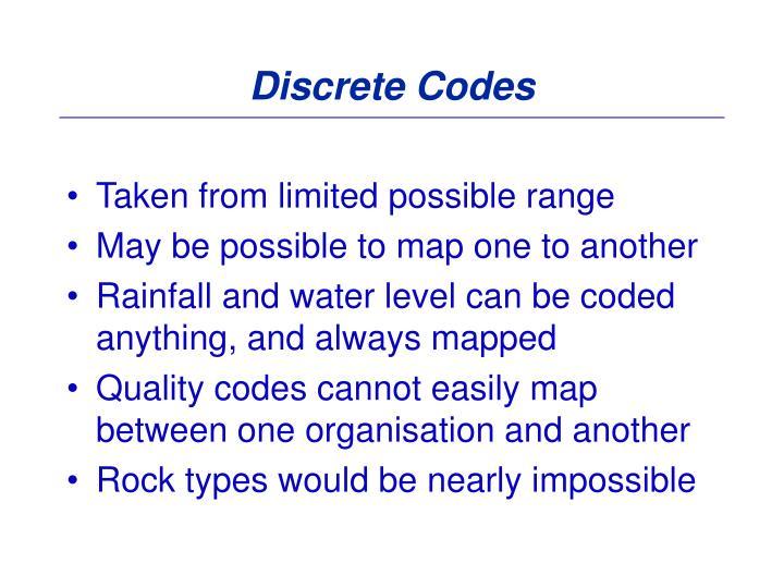 Discrete Codes