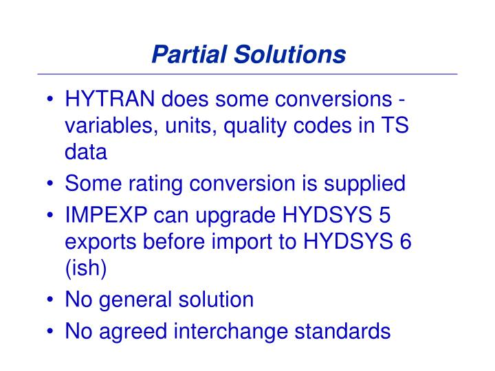 Partial Solutions