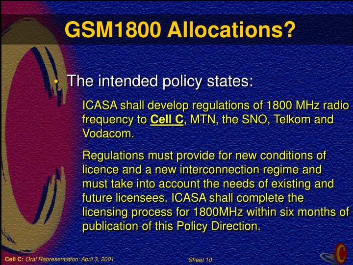 GSM1800 Allocations?
