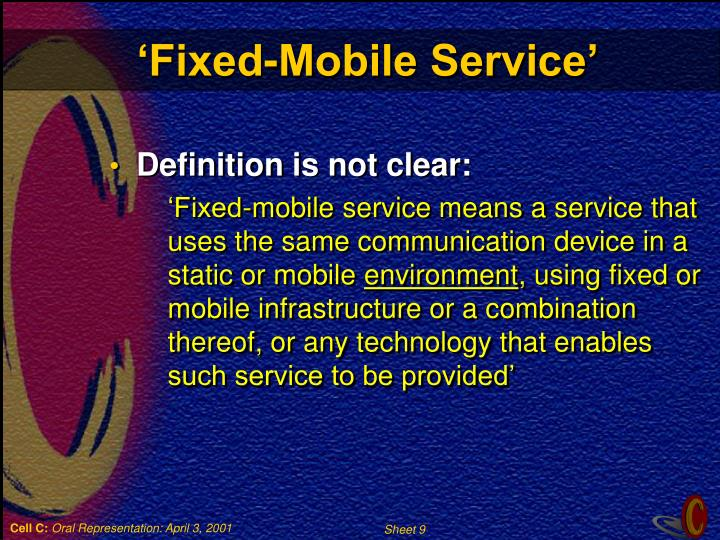 'Fixed-Mobile Service'