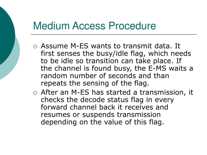 Medium Access Procedure