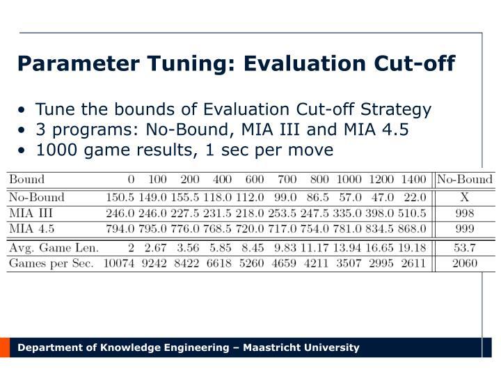 Parameter Tuning: Evaluation Cut-off