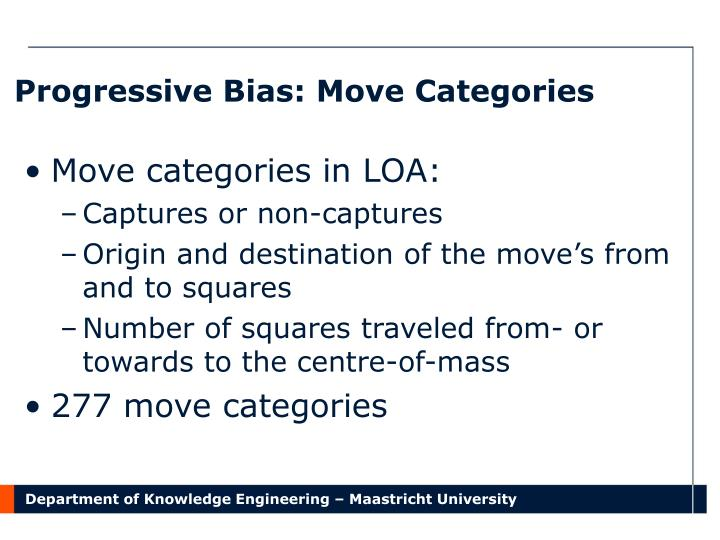 Progressive Bias: Move Categories