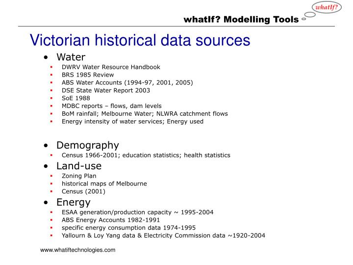 Victorian historical data sources