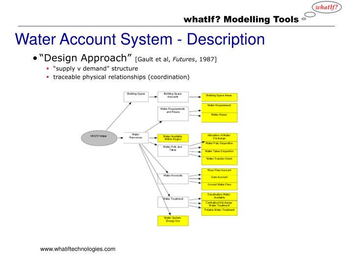 Water Account System - Description