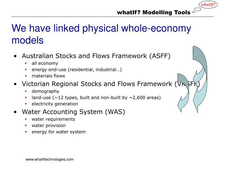 We have linked physical whole-economy models