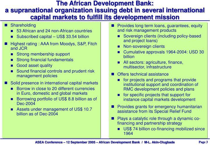 The African Development Bank: