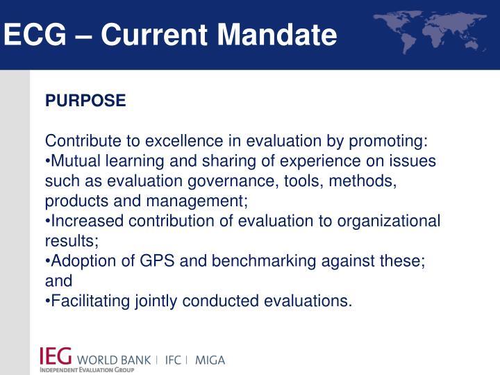 ECG – Current Mandate