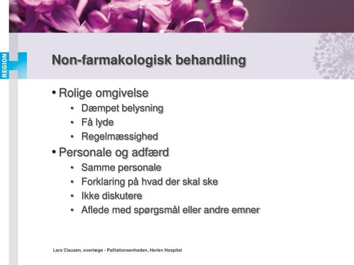 Non-farmakologisk behandling