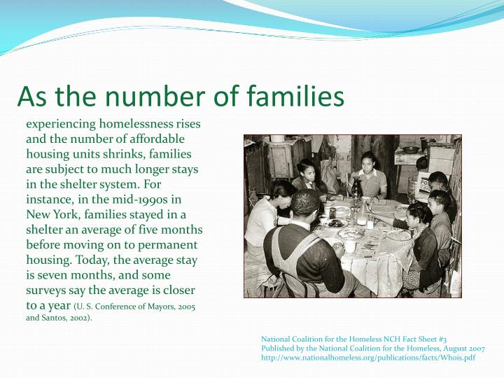 As the number of families