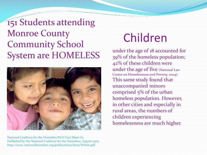 151 Students attending Monroe County Community School System are HOMELESS