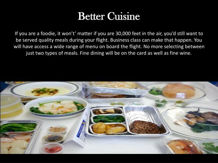 Better Cuisine