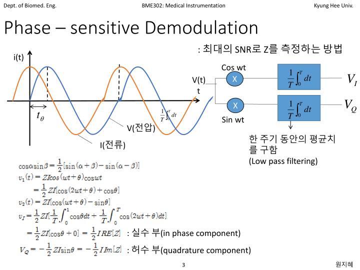 Phase – sensitive Demodulation