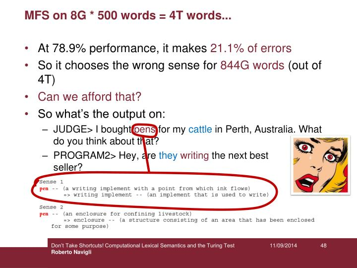 MFS on 8G * 500 words = 4T words...