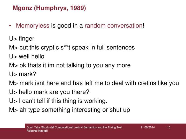 Mgonz (Humphrys, 1989)