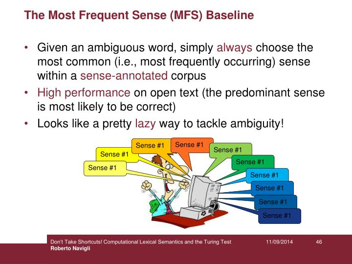 The Most Frequent Sense (MFS) Baseline