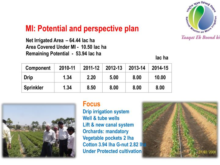 MI: Potential and perspective plan