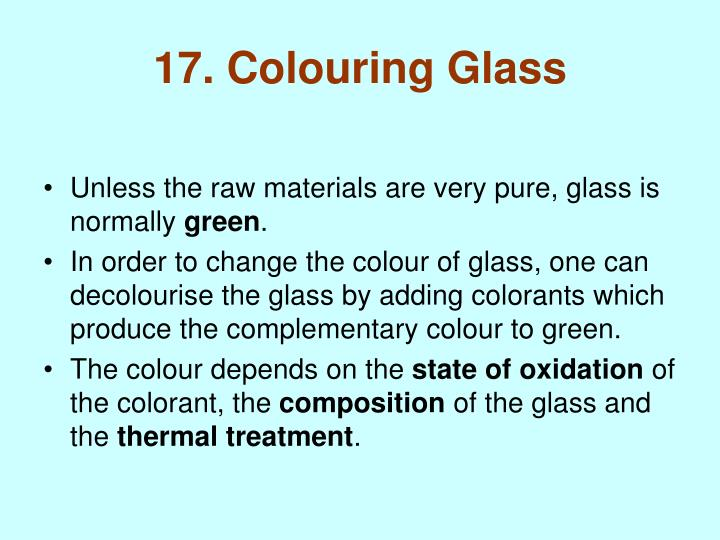 17. Colouring Glass