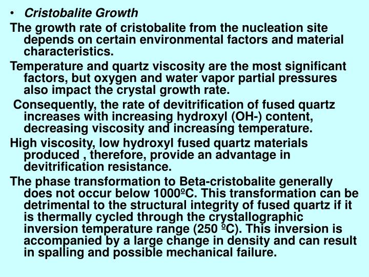 Cristobalite Growth