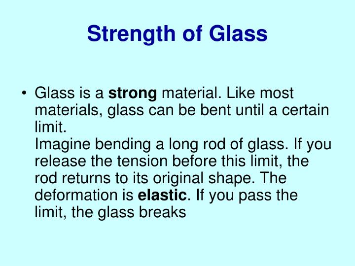 Strength of Glass