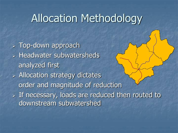 Allocation Methodology