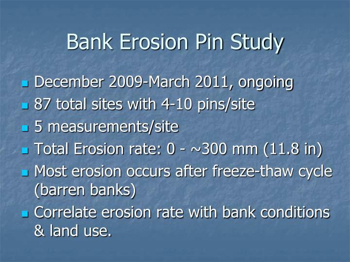Bank Erosion Pin Study