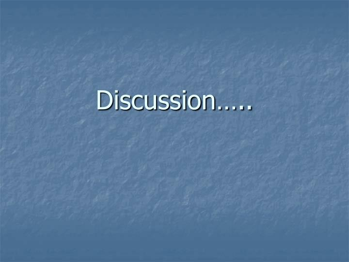 Discussion…..