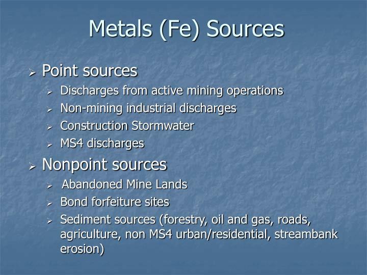 Metals (Fe) Sources
