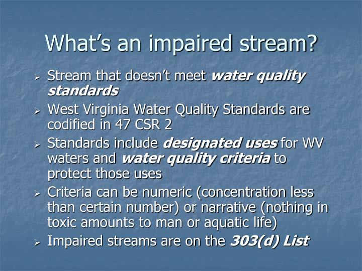 What's an impaired stream?