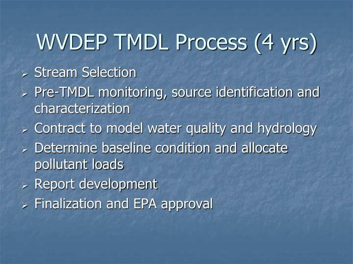WVDEP TMDL Process (4 yrs)