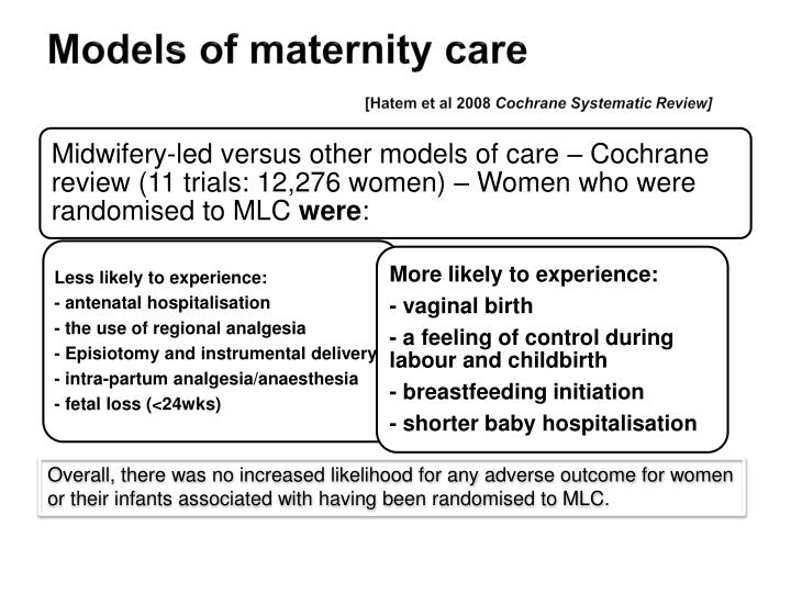 Models of maternity care