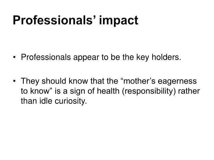 Professionals' impact
