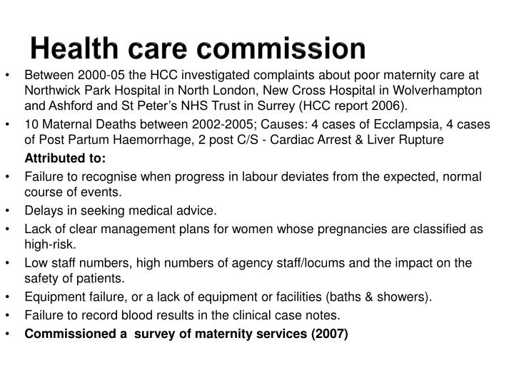Health care commission