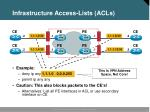 infrastructure access lists acls