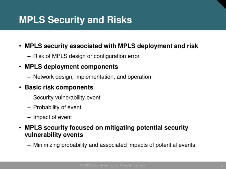 MPLS Security and Risks
