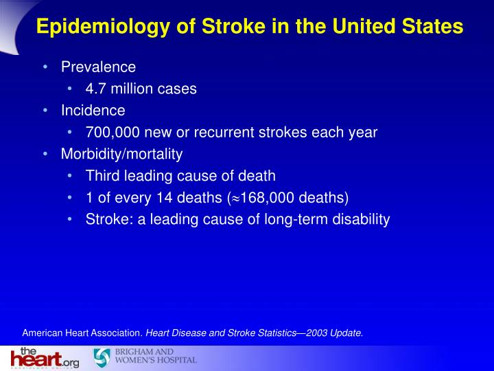 Epidemiology of Stroke in the United States