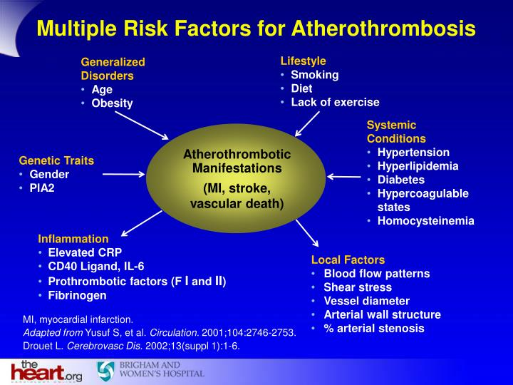 Multiple Risk Factors for Atherothrombosis