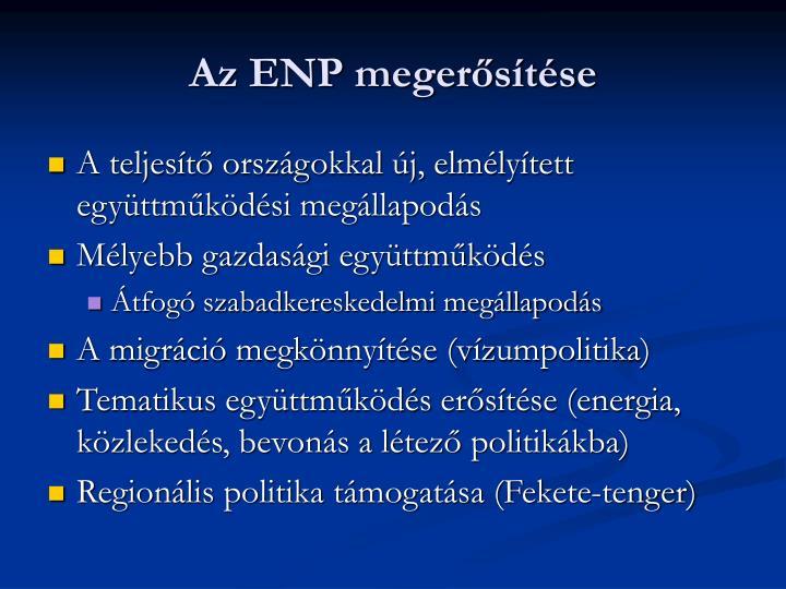 Az ENP megerősítése